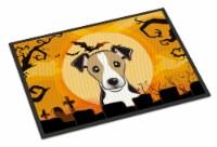 Halloween Jack Russell Terrier Indoor or Outdoor Mat 24x36