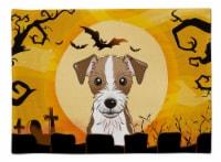 Carolines Treasures  BB1760PLMT Halloween Jack Russell Terrier Fabric Placemat