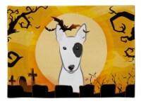 Carolines Treasures  BB1767PLMT Halloween Bull Terrier Fabric Placemat - Large