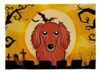 Carolines Treasures  BB1772PLMT Halloween Longhair Red Dachshund Fabric Placemat