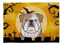 Carolines Treasures  BB1777PLMT Halloween English Bulldog  Fabric Placemat