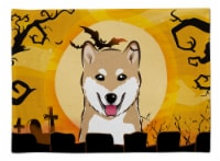 Carolines Treasures  BB1783PLMT Halloween Shiba Inu Fabric Placemat