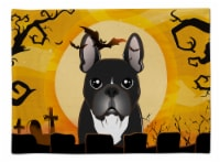 Carolines Treasures  BB1785PLMT Halloween French Bulldog Fabric Placemat
