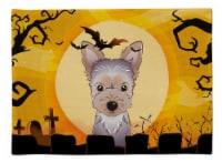 Carolines Treasures  BB1790PLMT Halloween Yorkie Puppy Fabric Placemat