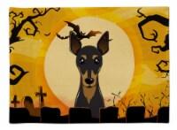 Carolines Treasures  BB1798PLMT Halloween Min Pin Fabric Placemat