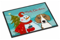 Carolines Treasures  BB1859JMAT Snowman with Beagle Indoor or Outdoor Mat 24x36 - 24Hx36W