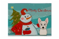 Carolines Treasures  BB1846PLMT Snowman with Westie Fabric Placemat - Large
