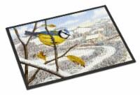 Winter Eurasian Blue Tit Indoor or Outdoor Mat 24x36 - 24Hx36W