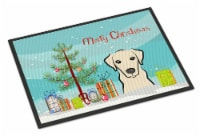 Christmas Tree and Yellow Labrador Indoor or Outdoor Mat 18x27