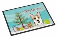 Christmas Tree and Sable Corgi Indoor or Outdoor Mat 18x27