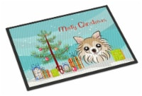 Christmas Tree and Chihuahua Indoor or Outdoor Mat 24x36