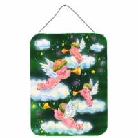 Carolines Treasures  AAH7253DS1216 Angels on Green Wall or Door Hanging Prints