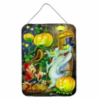 Scary Ghosts and Halloween Trick or Treaters Wall or Door Hanging Prints - 16HX12W