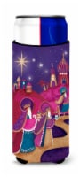 Christmas Wise Men in Purple Ultra Beverage Insulators for slim cans - Slim Can