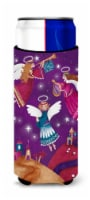 Christmas Angels in Purple Ultra Beverage Insulators for slim cans - Slim Can