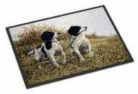 Two Springer Spaniels by Michael Herring Indoor or Outdoor Mat 18x27 - 18Hx27W