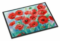 Carolines Treasures  IBD0258MAT Poppies Indoor or Outdoor Mat 18x27