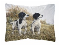 Two Springer Spaniels by Michael Herring Fabric Decorative Pillow - 12Hx16W