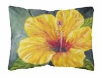 Yellow Hibiscus by Malenda Trick Fabric Decorative Pillow