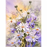 Daisies by Maureen Bonfield Flag Canvas House Size - House Size