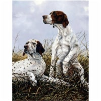 English Pointer by Michael Herring Flag Canvas House Size - House Size