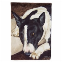 Bull Terrier by Tanya and Craig Amberson Flag Garden Size - Garden Size