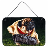 Cluster Buster the Pug Wall or Door Hanging Prints - 8HX12W