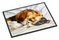 Carolines Treasures  AMB1076JMAT Beagle Bliss Indoor or Outdoor Mat 24x36 - 24Hx36W