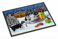 Christmas Mush Siberian Husky Indoor or Outdoor Mat 24x36 - 24Hx36W