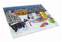 Christmas Mush Siberian Husky Glass Cutting Board Large - 12Hx15W