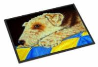 Airedale Terrier Momma's Quilt Indoor or Outdoor Mat 18x27