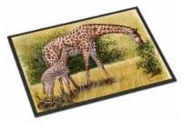 Giraffes by Daphne Baxter Indoor or Outdoor Mat 24x36 - 24Hx36W