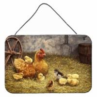 Chicken Hen and Her Chicks Wall or Door Hanging Prints - 8HX12W