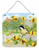 Coal Tits Yellow Flowers Wall or Door Hanging Prints - 6HX6W
