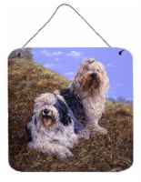 Old English Sheepdogs by Michael Herring Wall or Door Hanging Prints - 6HX6W