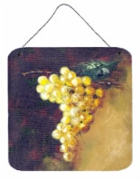 New White Grapes by Malenda Trick Wall or Door Hanging Prints - 6HX6W