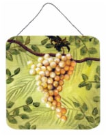Sunshine White Grapes by Malenda Trick Wall or Door Hanging Prints - 6HX6W