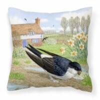 House Martin by Sarah Adams Canvas Decorative Pillow - 18Hx18W