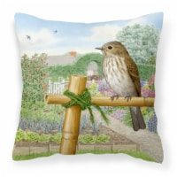Spotted Flycatcher by Sarah Adams Canvas Decorative Pillow