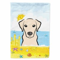 Carolines Treasures  BB2090GF Yellow Labrador Summer Beach Flag Garden Size - Garden Size