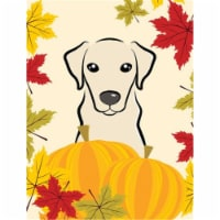 Yellow Labrador Thanksgiving Flag Canvas House Size