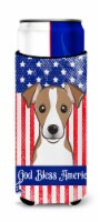 God Bless American Flag with Jack Russell Terrier Michelob Ultra beverage Insula