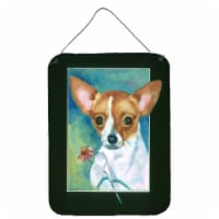 Carolines Treasures  7360DS1216 Chihuahua and Daisy Wall or Door Hanging Prints - 16HX12W