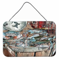 Basket Full of Blue Crabs Wall or Door Hanging Prints - 8HX12W
