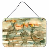 Pelicans on their perch Abstract Wall or Door Hanging Prints