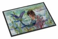 Brunette Mermaid Coral Fantasy Indoor or Outdoor Mat 24x36