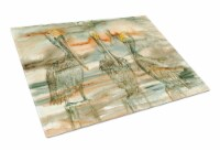 Pelicans on their perch Abstract Glass Cutting Board Large