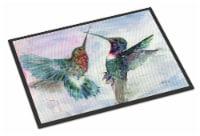 Carolines Treasures  8968MAT Hummingbird Combat Indoor or Outdoor Mat 18x27