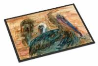 Carolines Treasures  8977MAT Abstract Pelicans Indoor or Outdoor Mat 18x27 - 18Hx27W