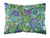 Abstract in Blues and Greens Fabric Decorative Pillow